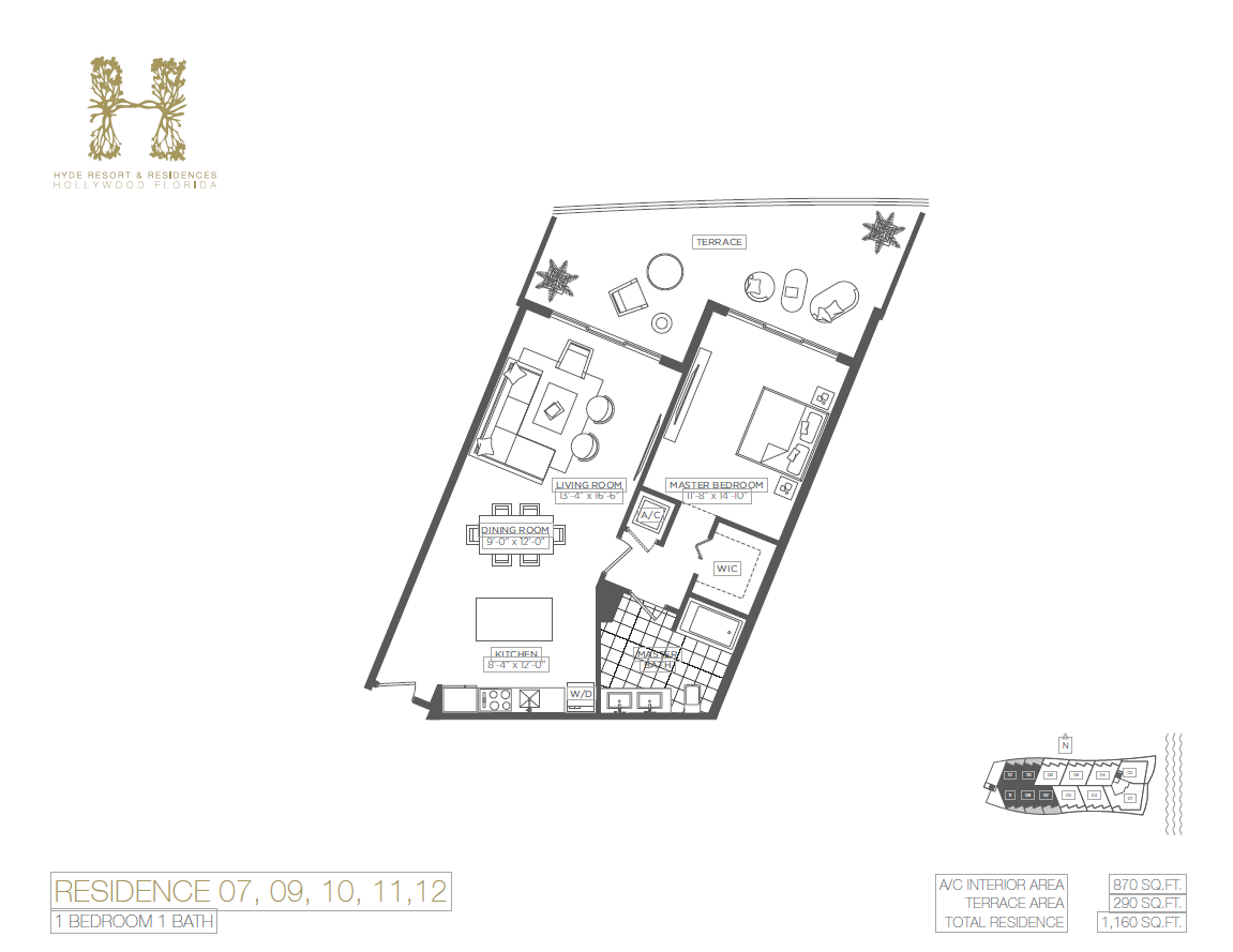 Hyde Beach Resort & Residences - Floorplan 5