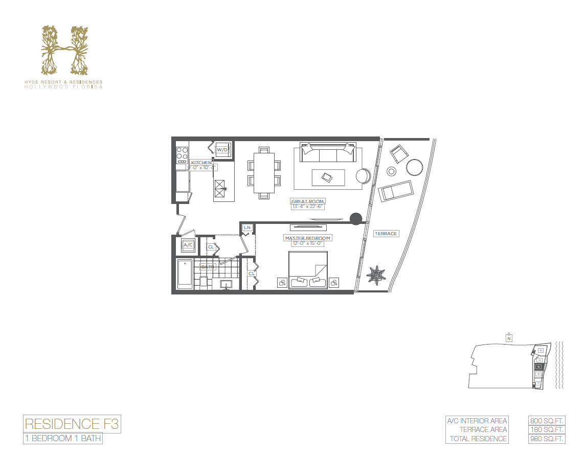Hyde Beach Resort & Residences - Floorplan 6