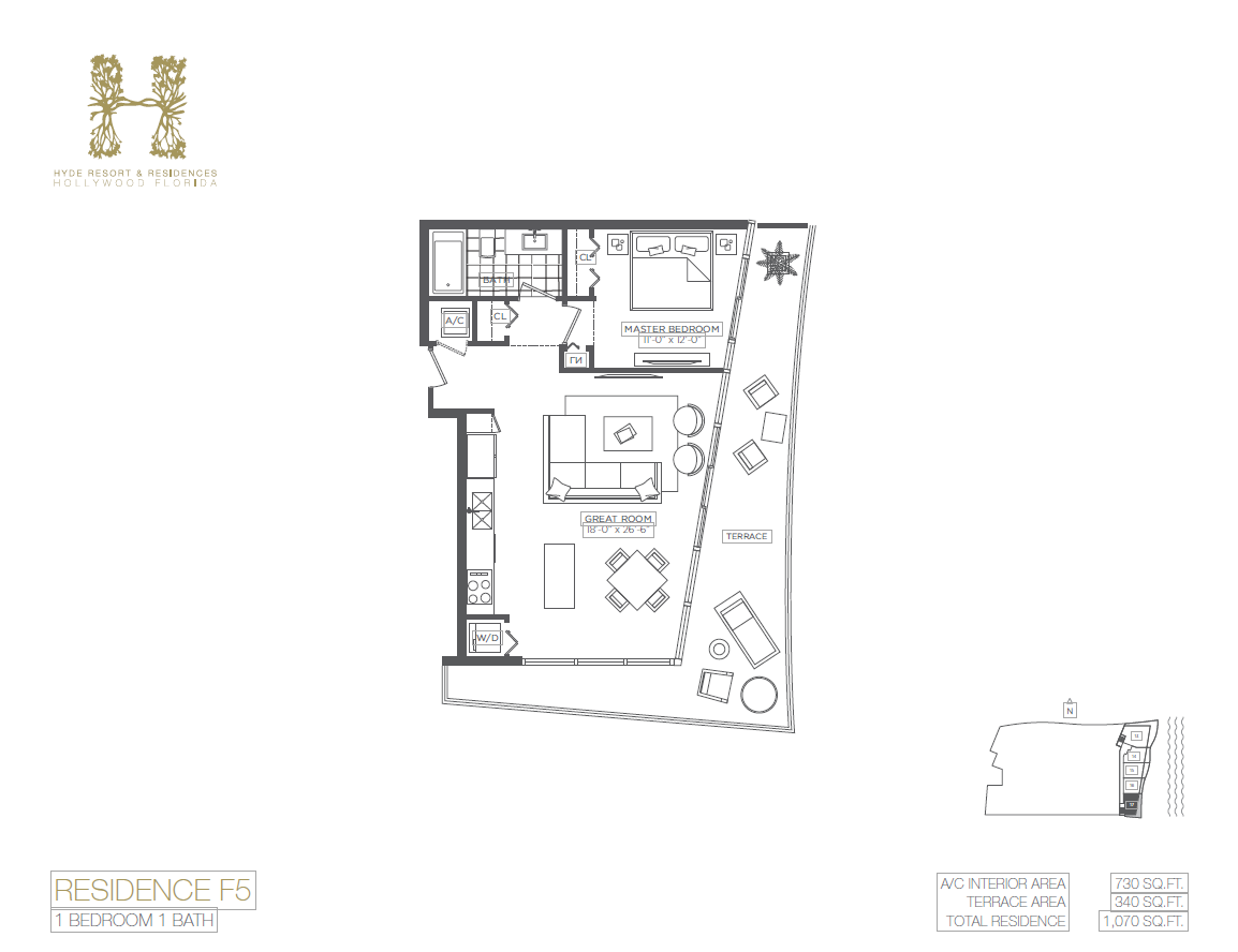 Hyde Beach Resort & Residences - Floorplan 7