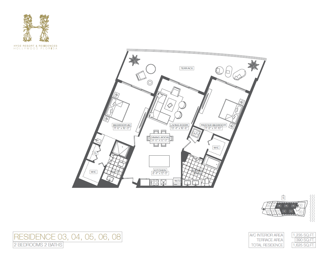 Hyde Beach Resort & Residences - Floorplan 8