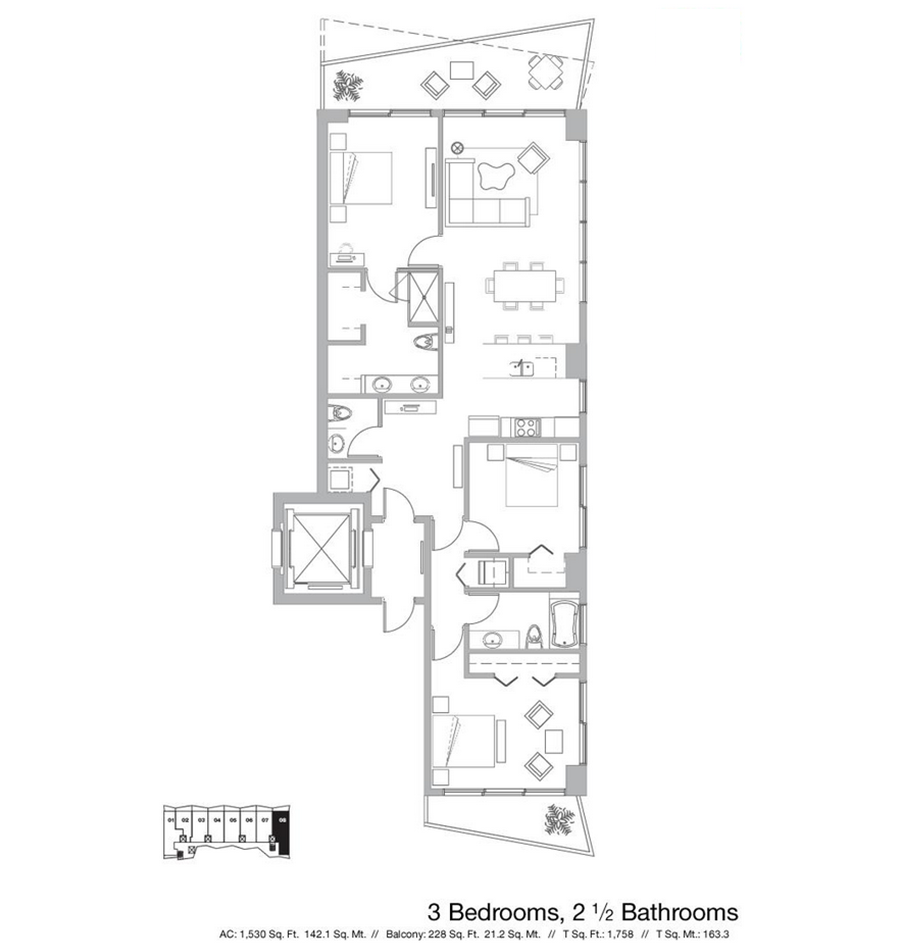 Icon Bay - Floorplan 1