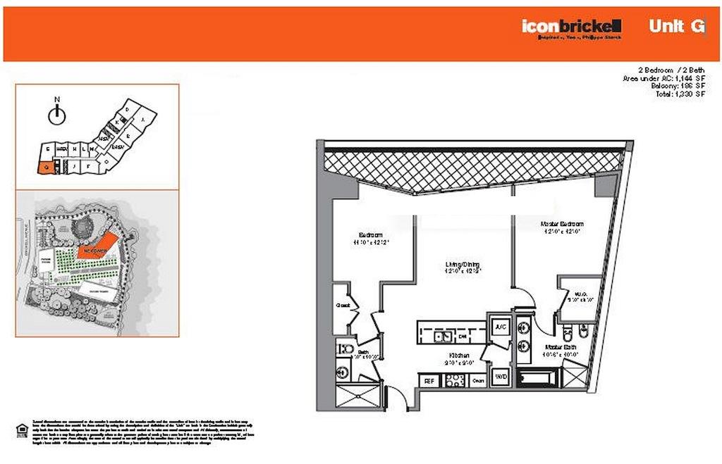Icon Brickell - Floorplan 1