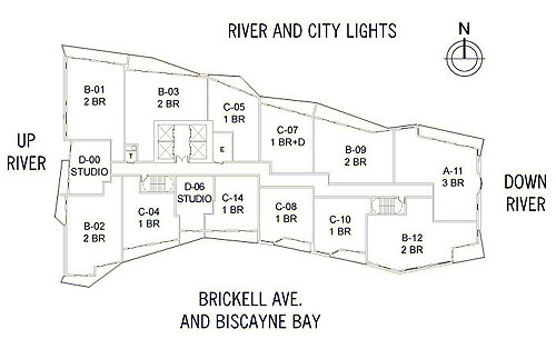 Latitude on The River - Floorplan 1