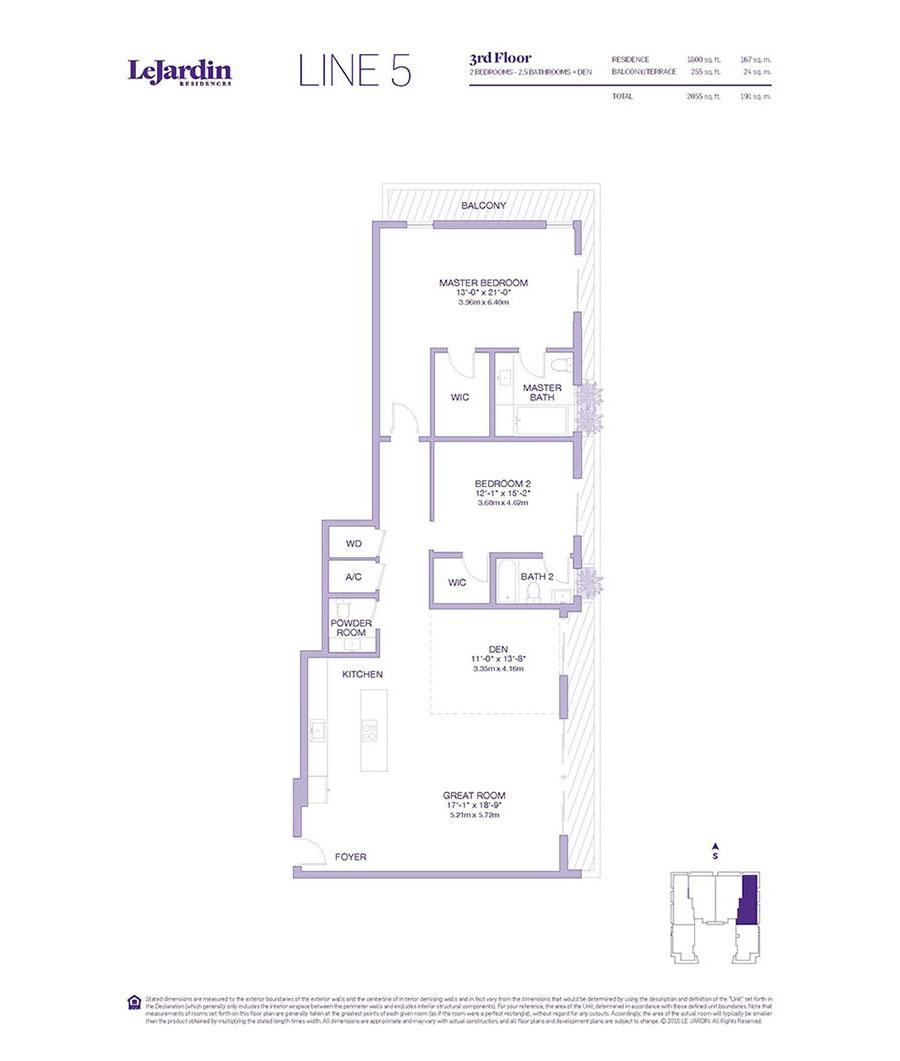 Le Jardin - Floorplan 5