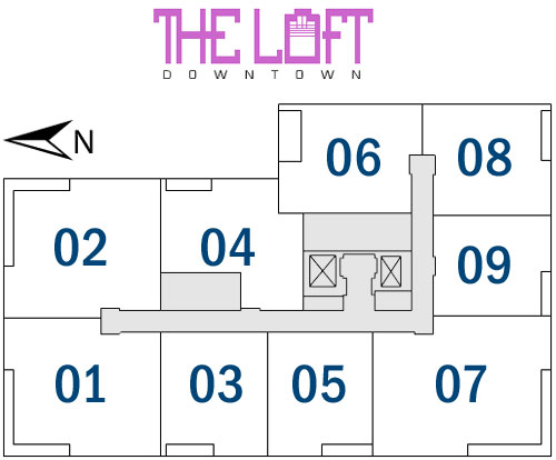 Loft Downtown I - Floorplan 1