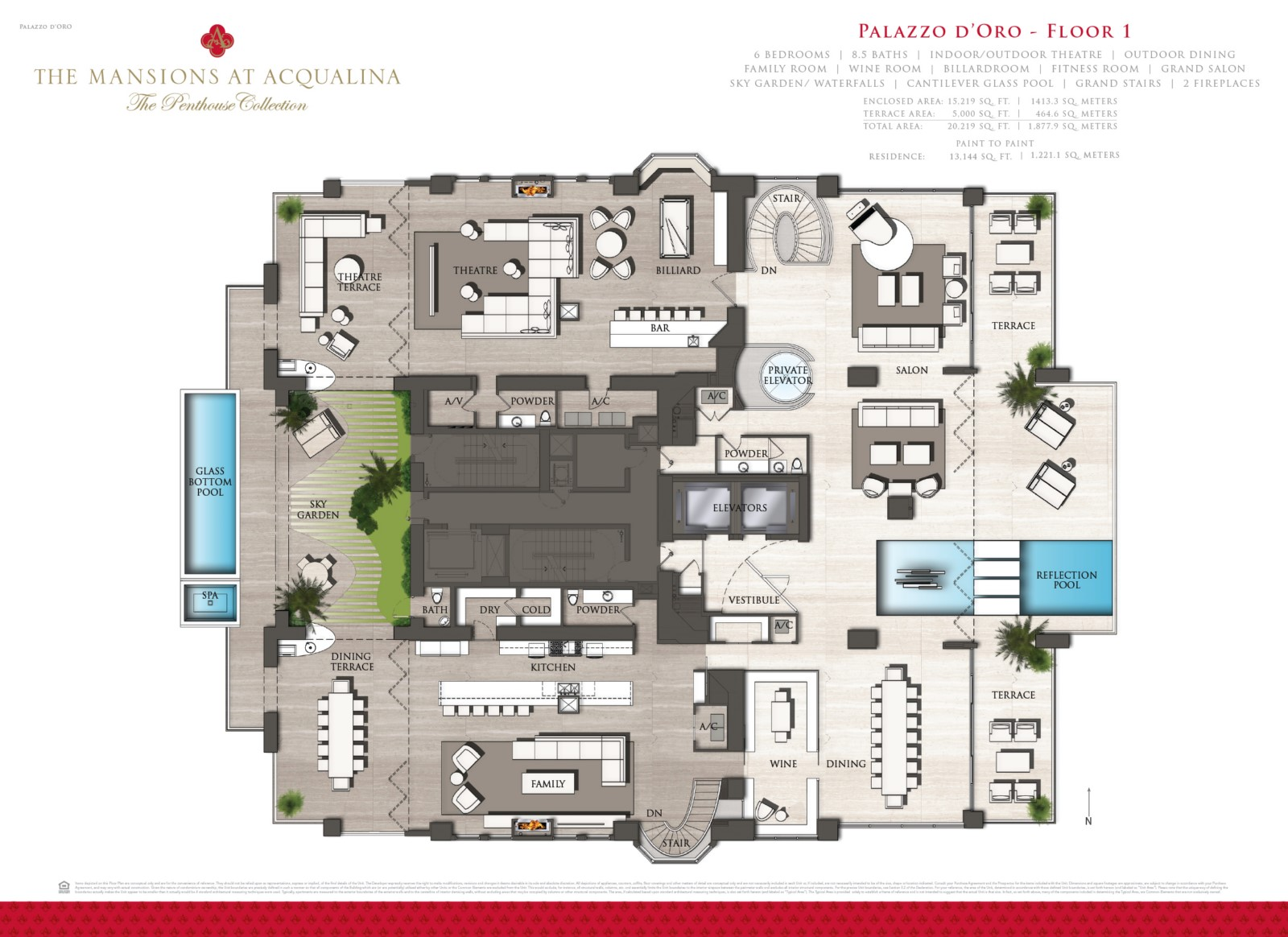 Mansions at Acqualina - Floorplan 1