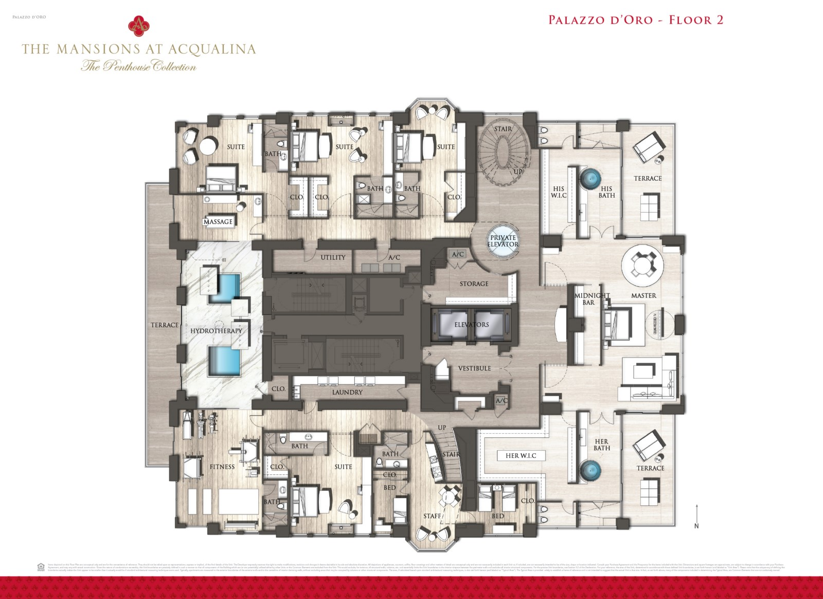 Mansions at Acqualina - Floorplan 2
