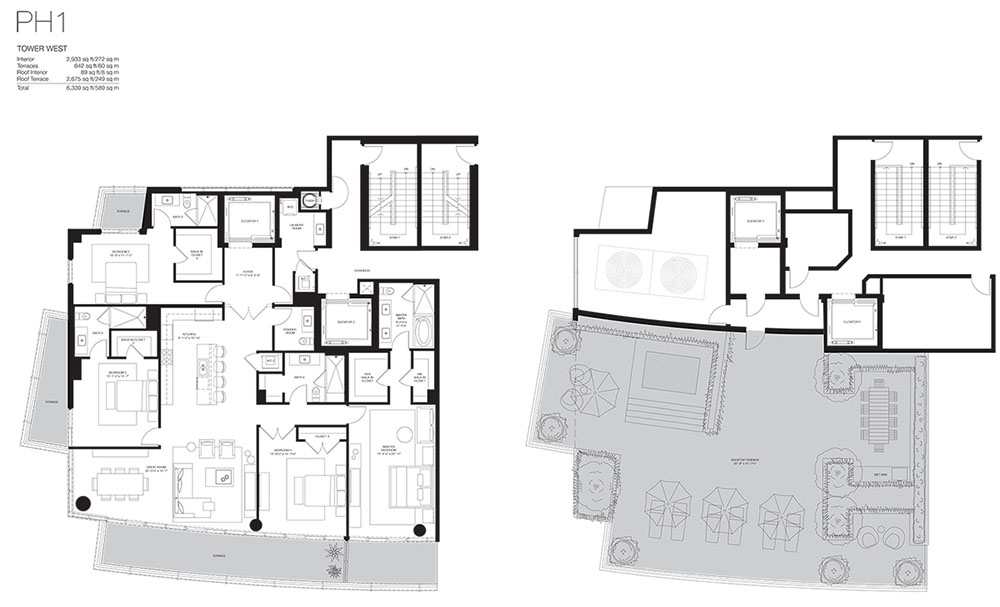 Marea South Beach - Floorplan 1