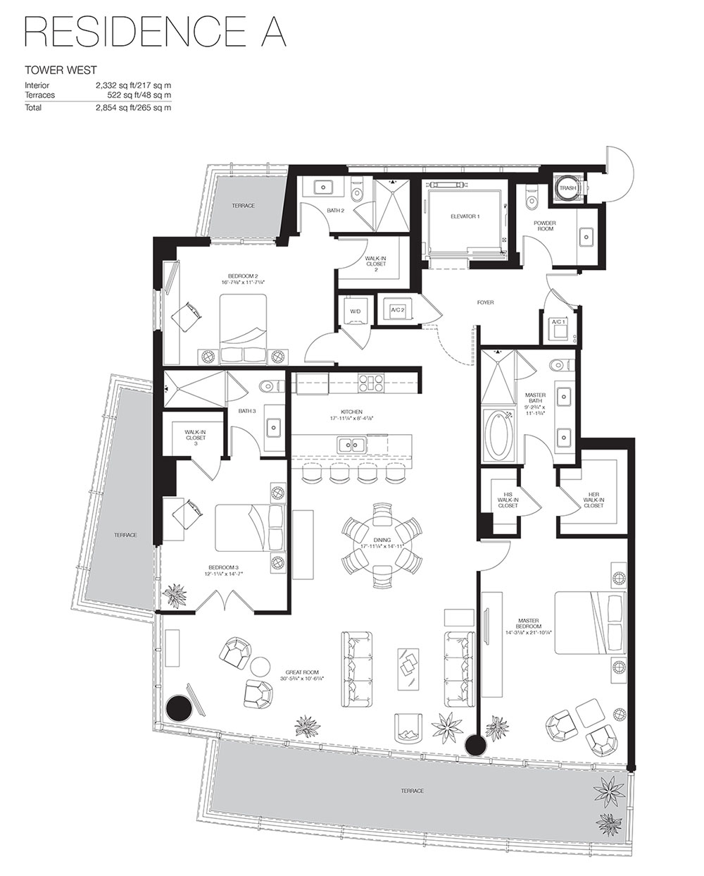 Marea South Beach - Floorplan 5