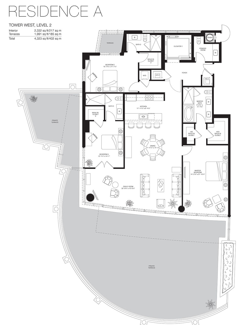 Marea South Beach - Floorplan 6