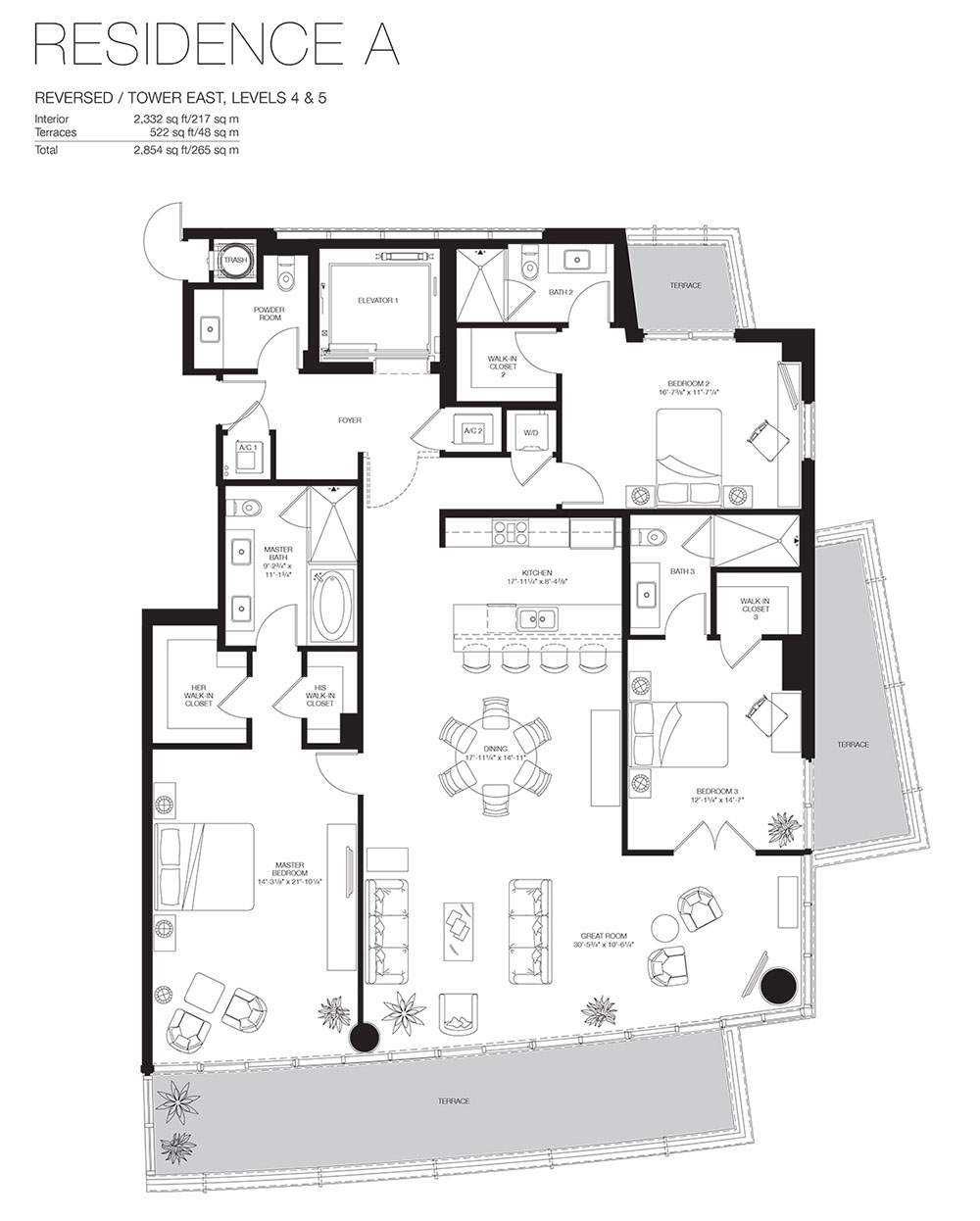 Marea South Beach - Floorplan 7