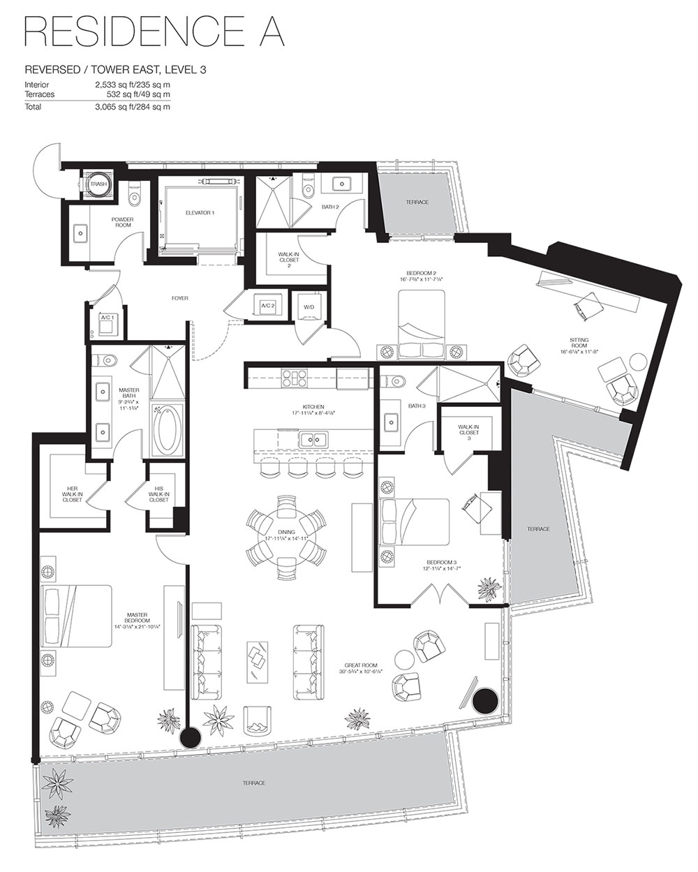 Marea South Beach - Floorplan 8