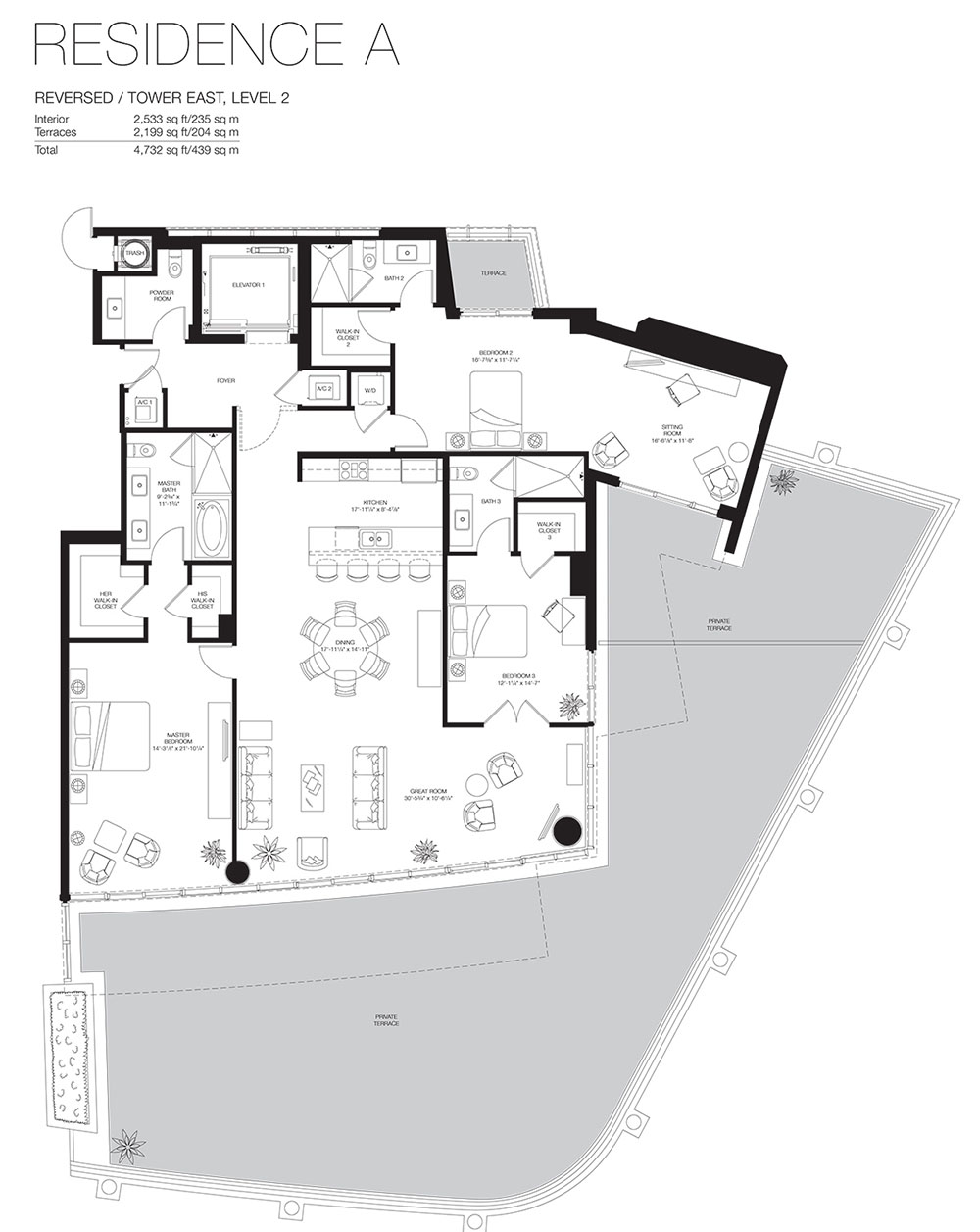 Marea South Beach - Floorplan 9
