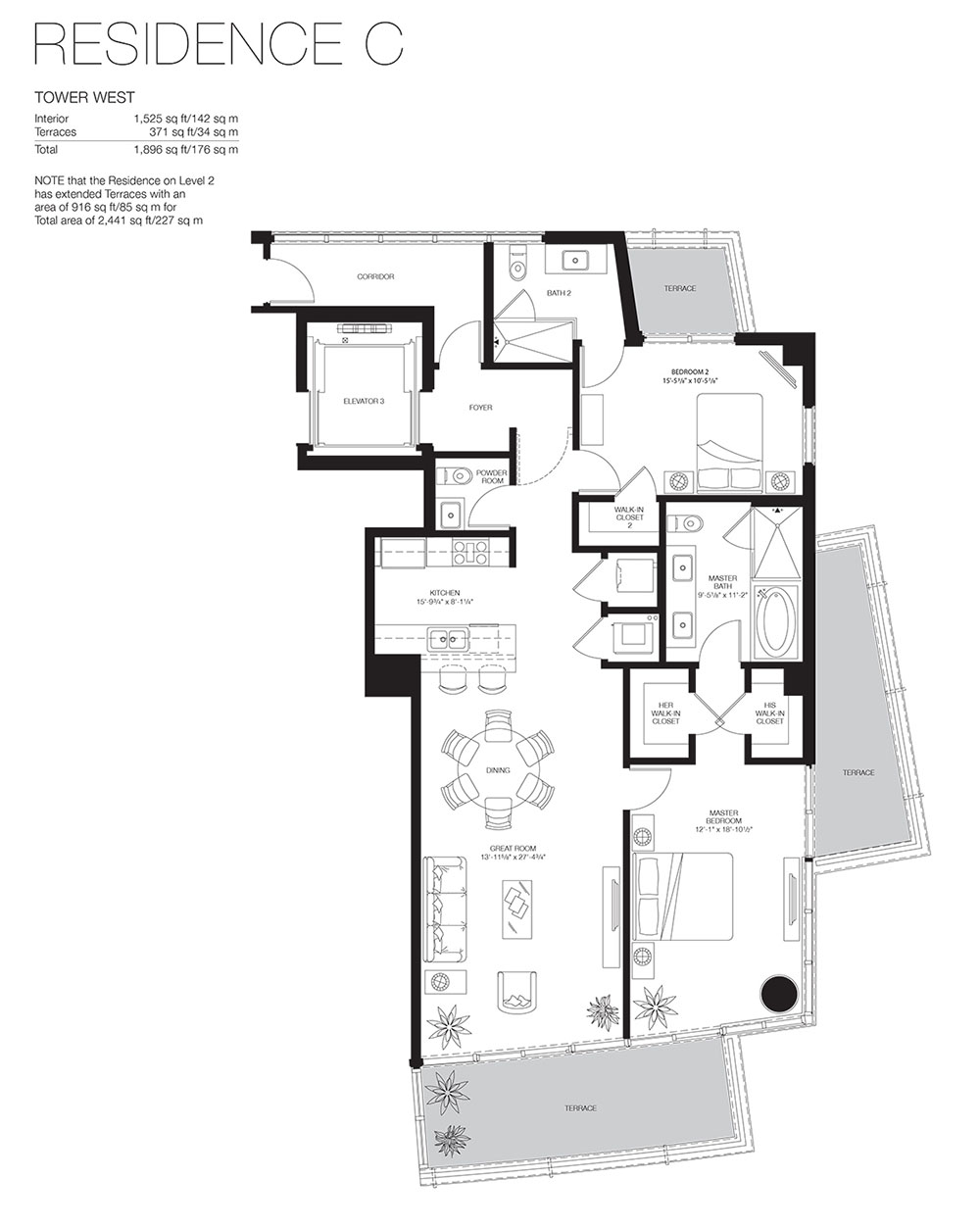 Marea South Beach - Floorplan 12