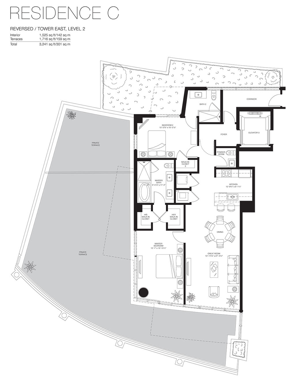 Marea South Beach - Floorplan 13