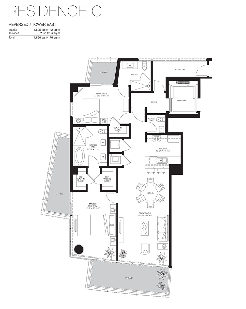 Marea South Beach - Floorplan 14