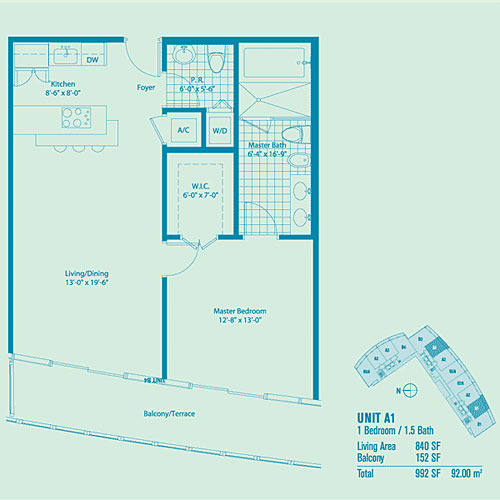 Marina Blue - Floorplan 1