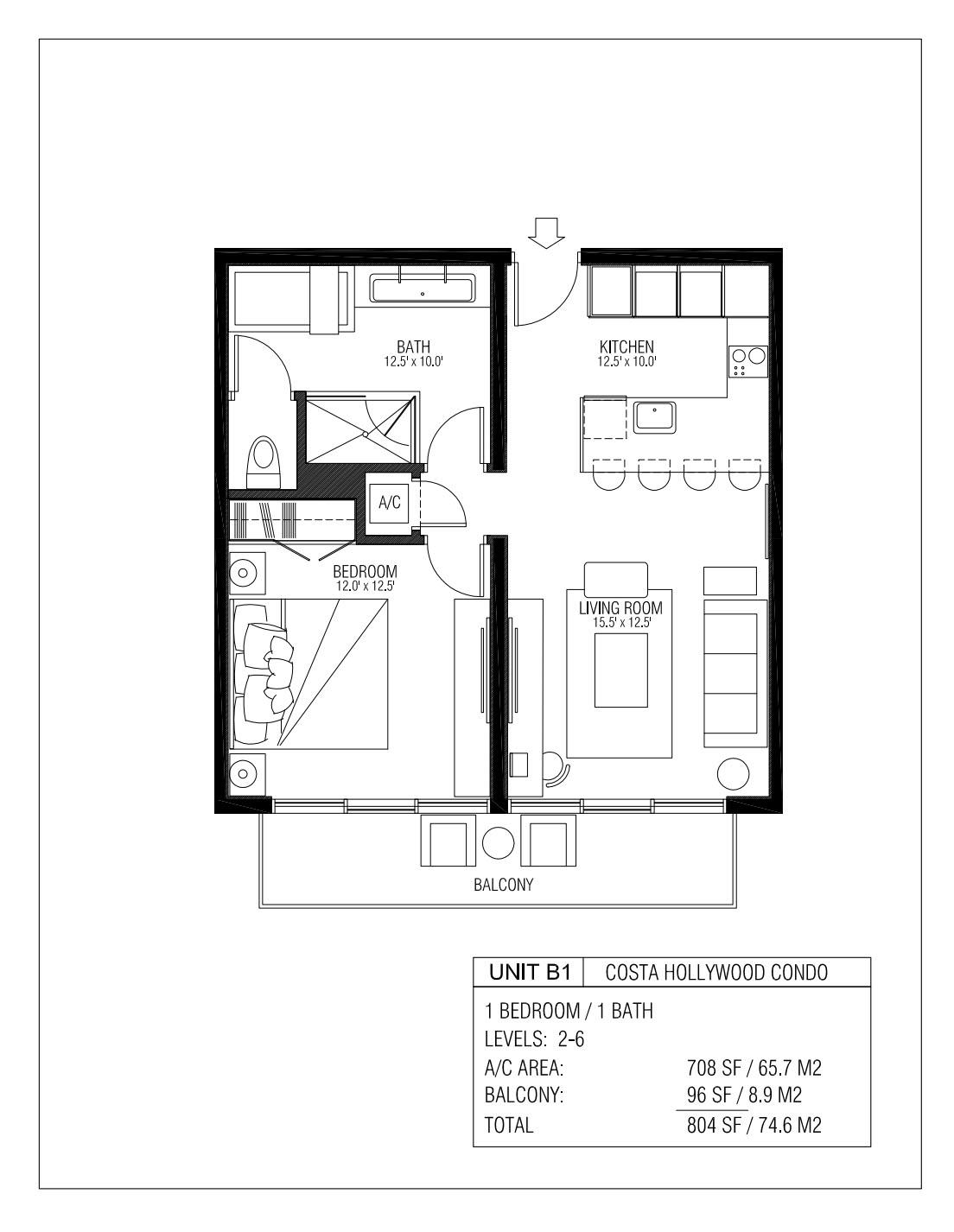 Melia Costa Hollywood - Floorplan 6
