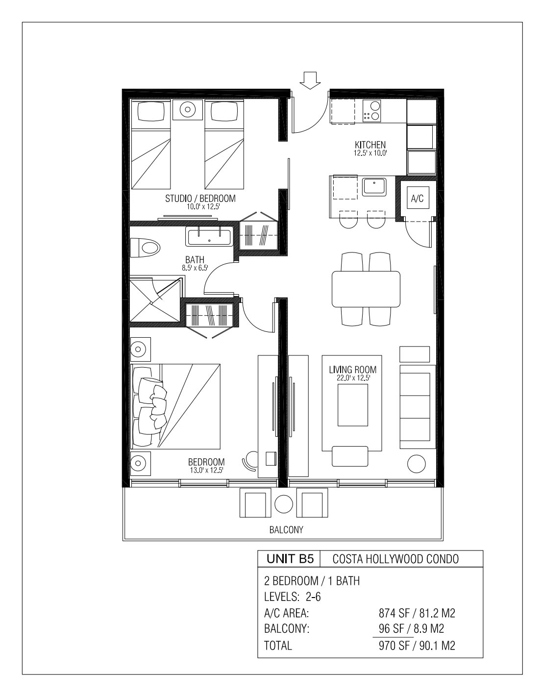 Melia Costa Hollywood - Floorplan 9