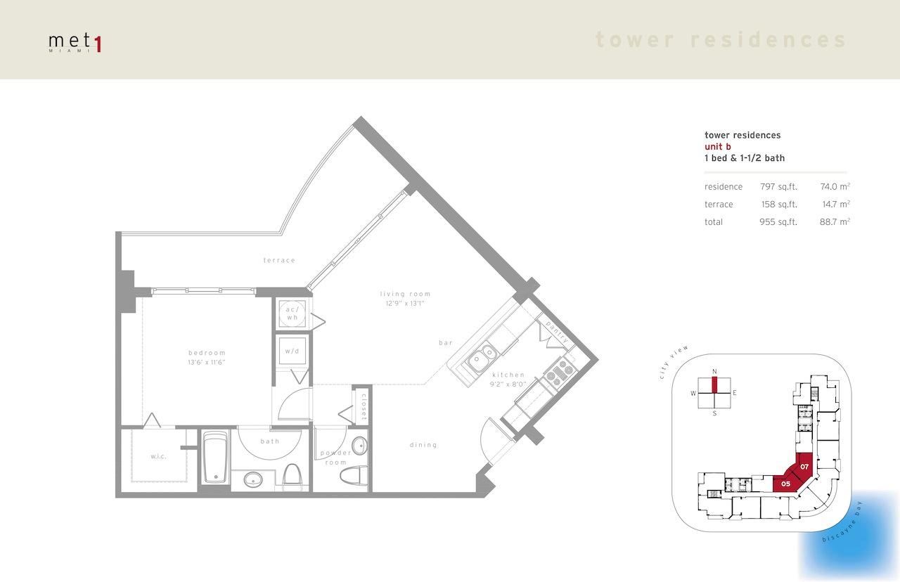Met 1 - Floorplan 3