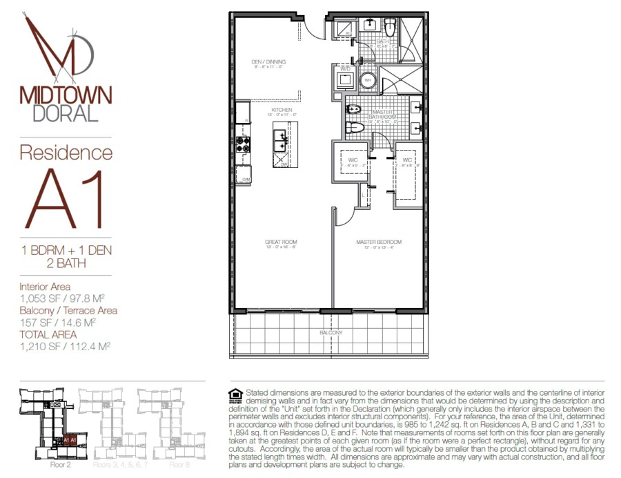 Midtown Doral - Floorplan 1