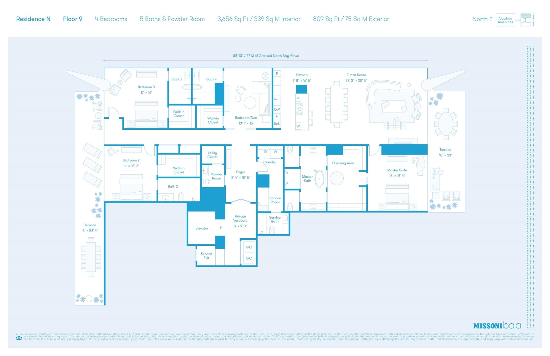 Missoni Baia - Floorplan 1