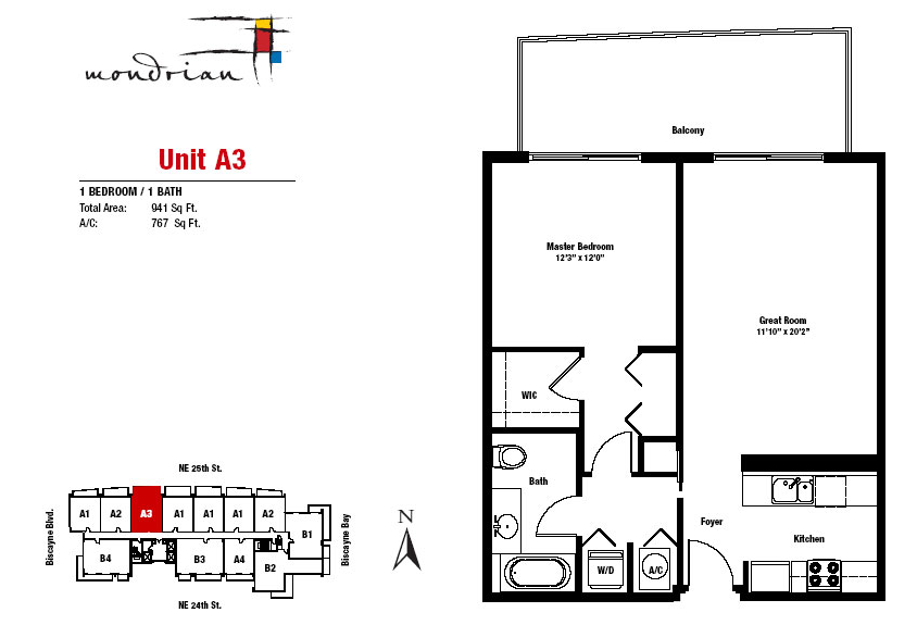Mondrian South Beach - Floorplan 1