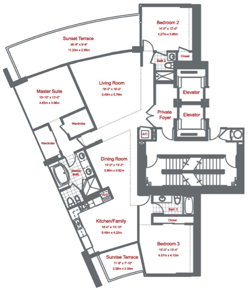 Murano At Portofino - Floorplan 1