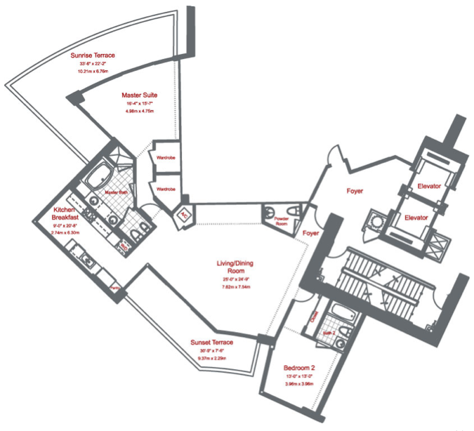 Murano At Portofino - Floorplan 2