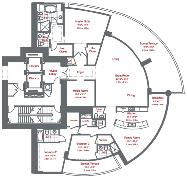 Murano At Portofino - Floorplan 3