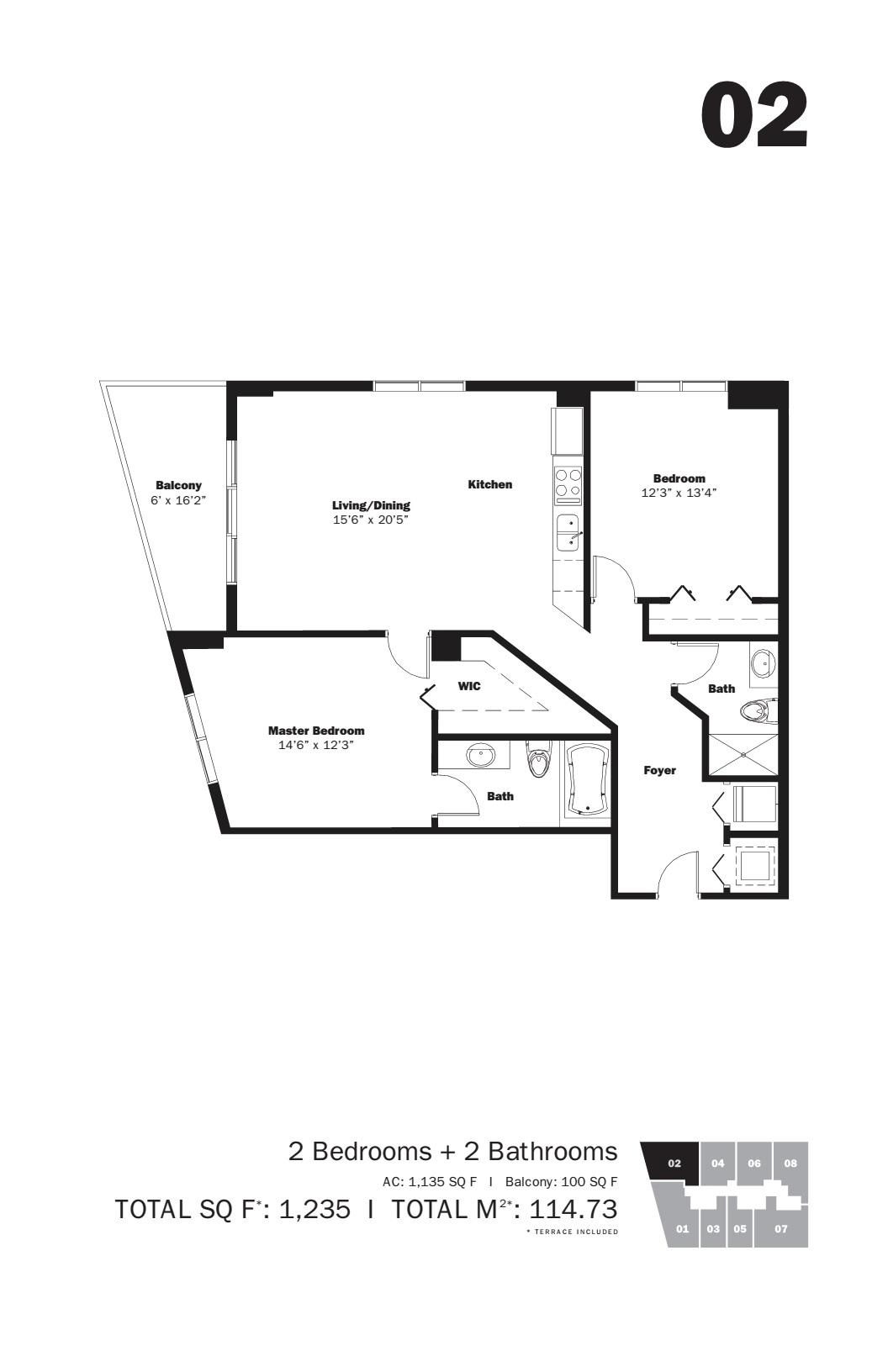 MyBrickell - Floorplan 1