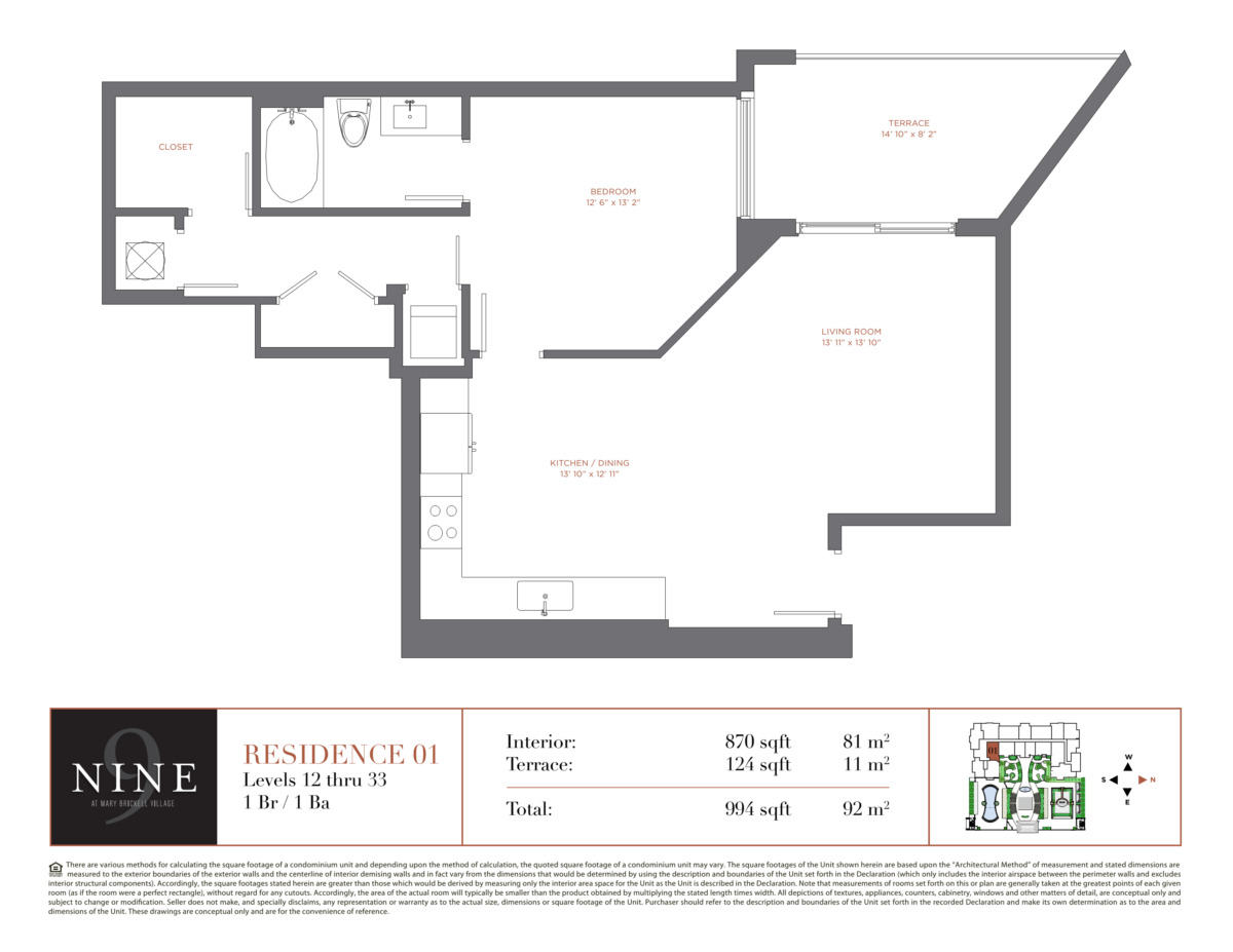 NINE At Mary Brickell Village - Floorplan 1