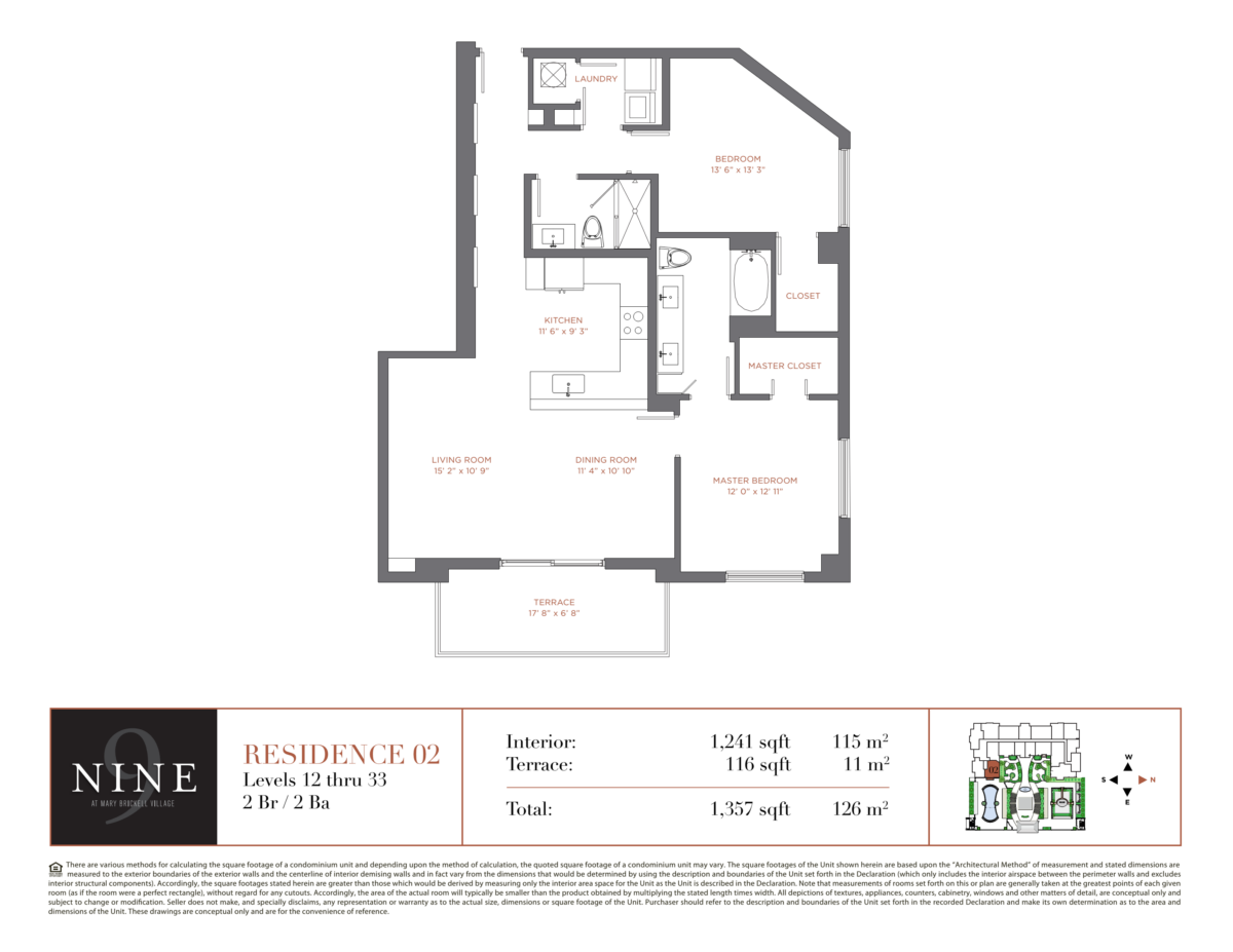 NINE At Mary Brickell Village - Floorplan 3