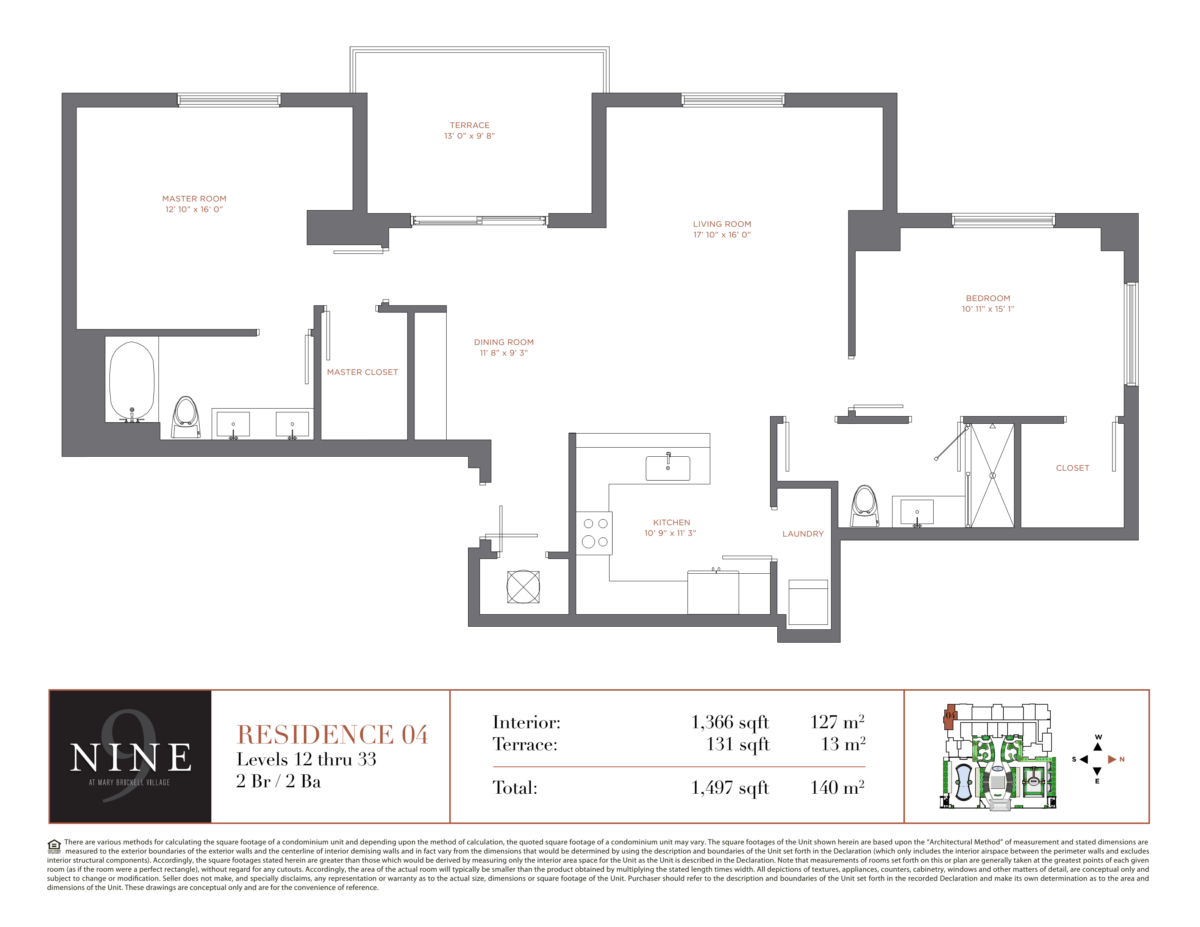 NINE At Mary Brickell Village - Floorplan 4