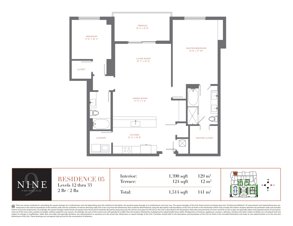 NINE At Mary Brickell Village - Floorplan 5