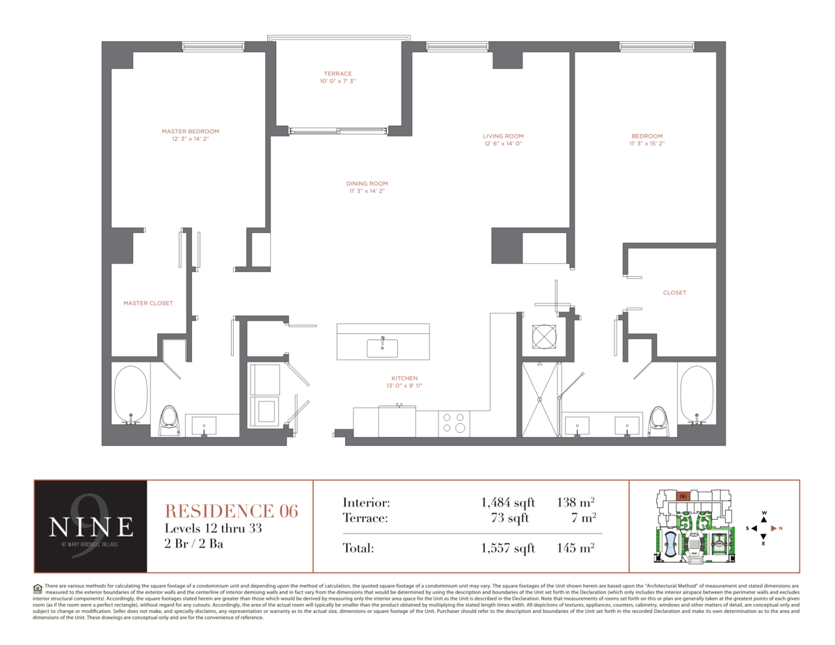 NINE At Mary Brickell Village - Floorplan 6