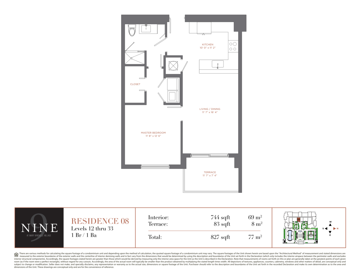 NINE At Mary Brickell Village - Floorplan 7