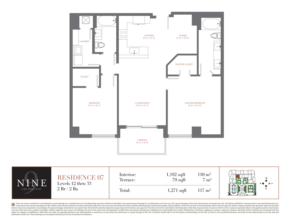 NINE At Mary Brickell Village - Floorplan 8