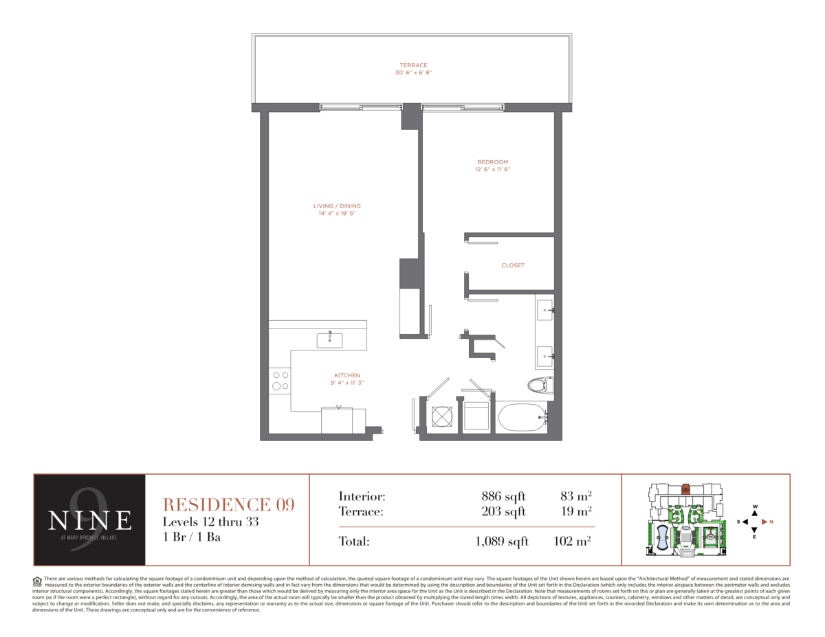 NINE At Mary Brickell Village - Floorplan 9