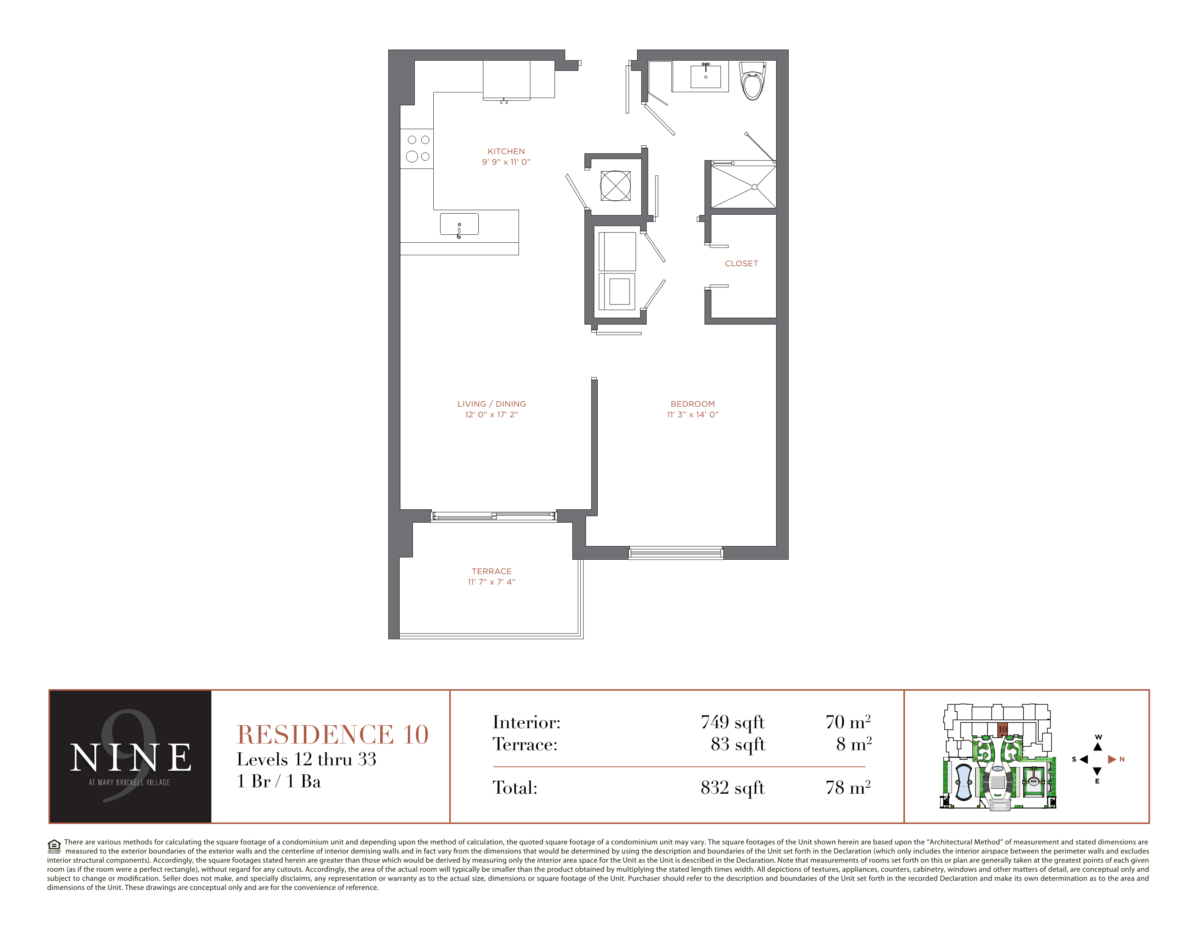 NINE At Mary Brickell Village - Floorplan 10