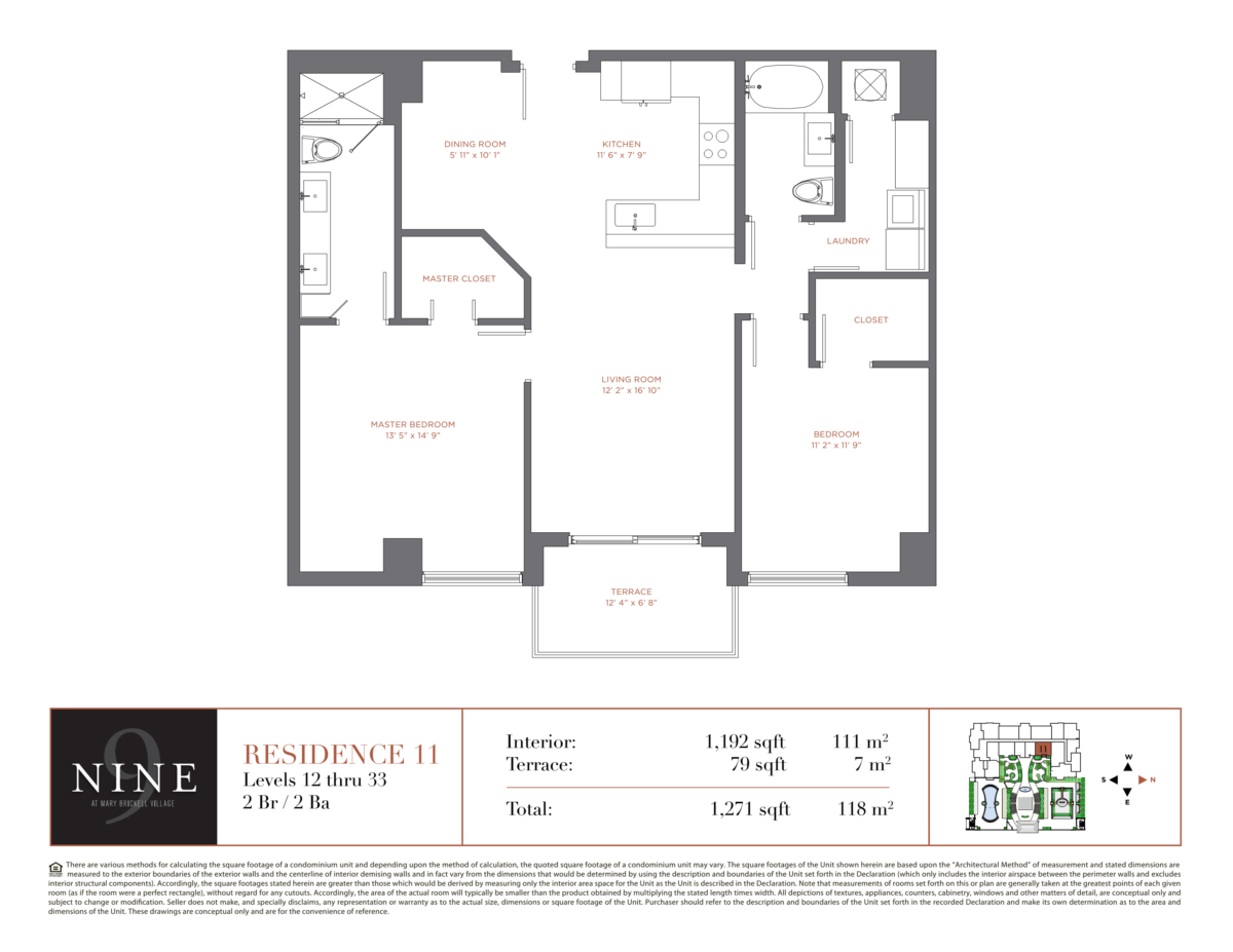 NINE At Mary Brickell Village - Floorplan 11