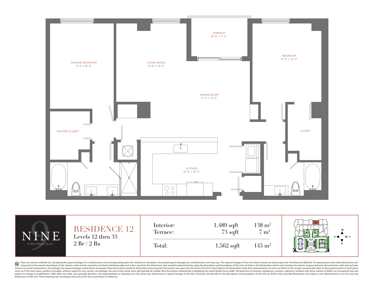 NINE At Mary Brickell Village - Floorplan 12