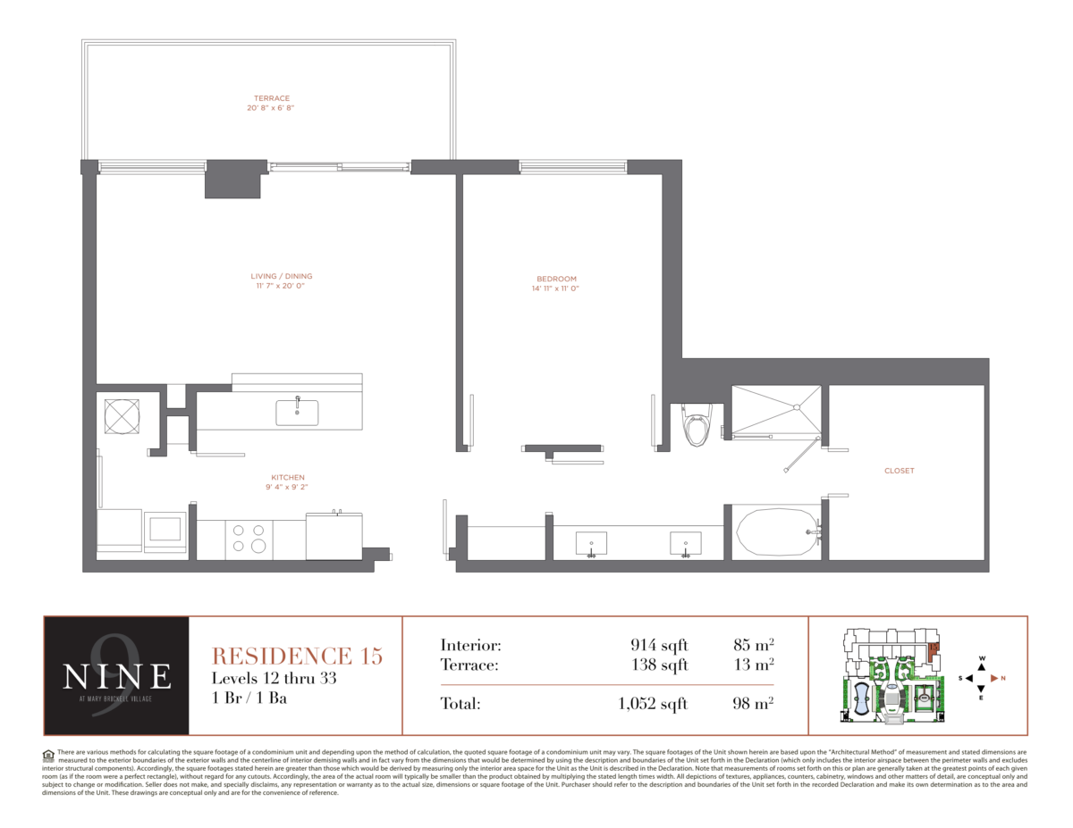 NINE At Mary Brickell Village - Floorplan 13