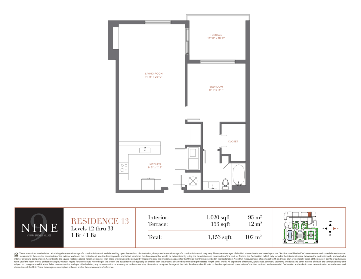 NINE At Mary Brickell Village - Floorplan 14