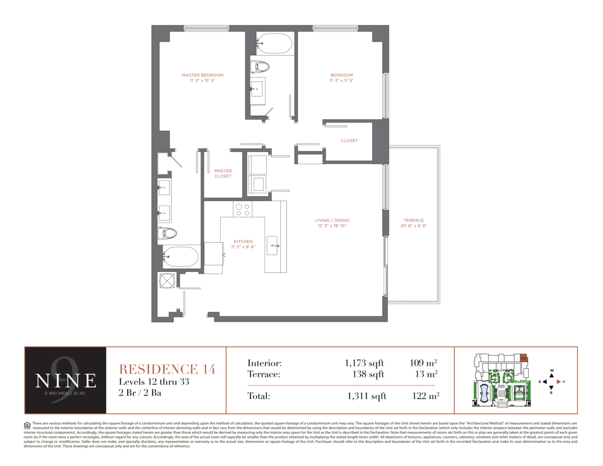 NINE At Mary Brickell Village - Floorplan 15