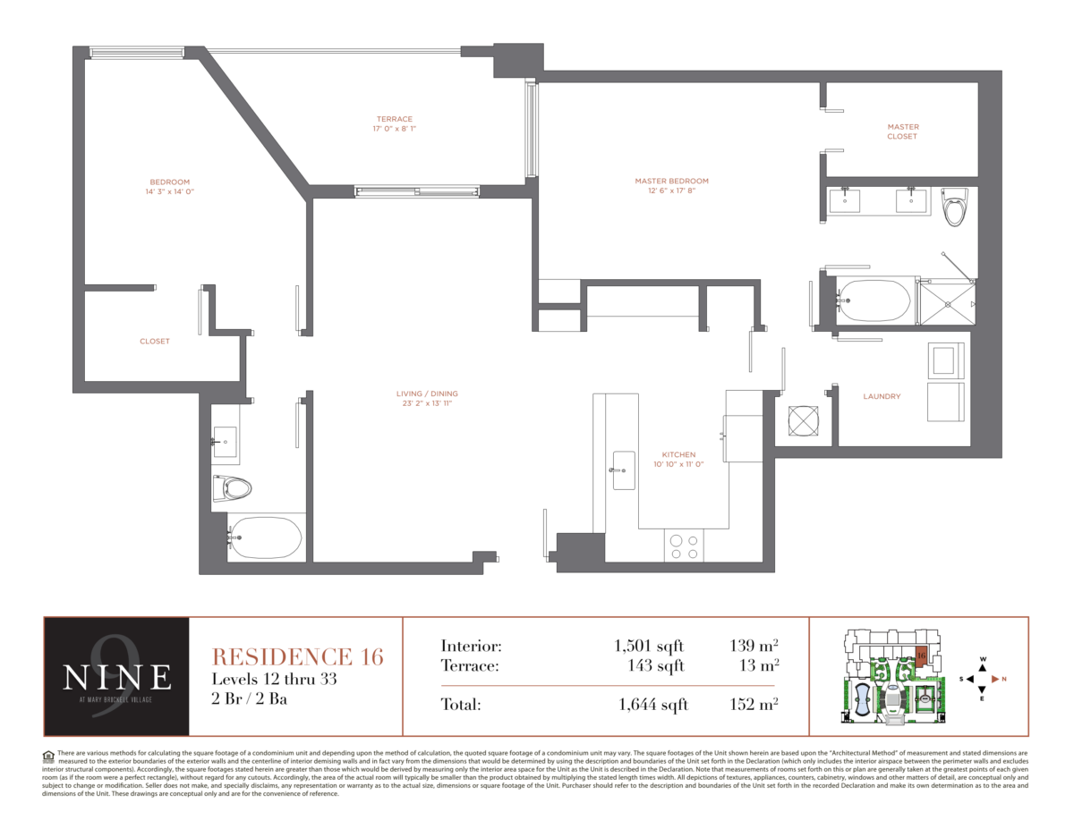 NINE At Mary Brickell Village - Floorplan 16