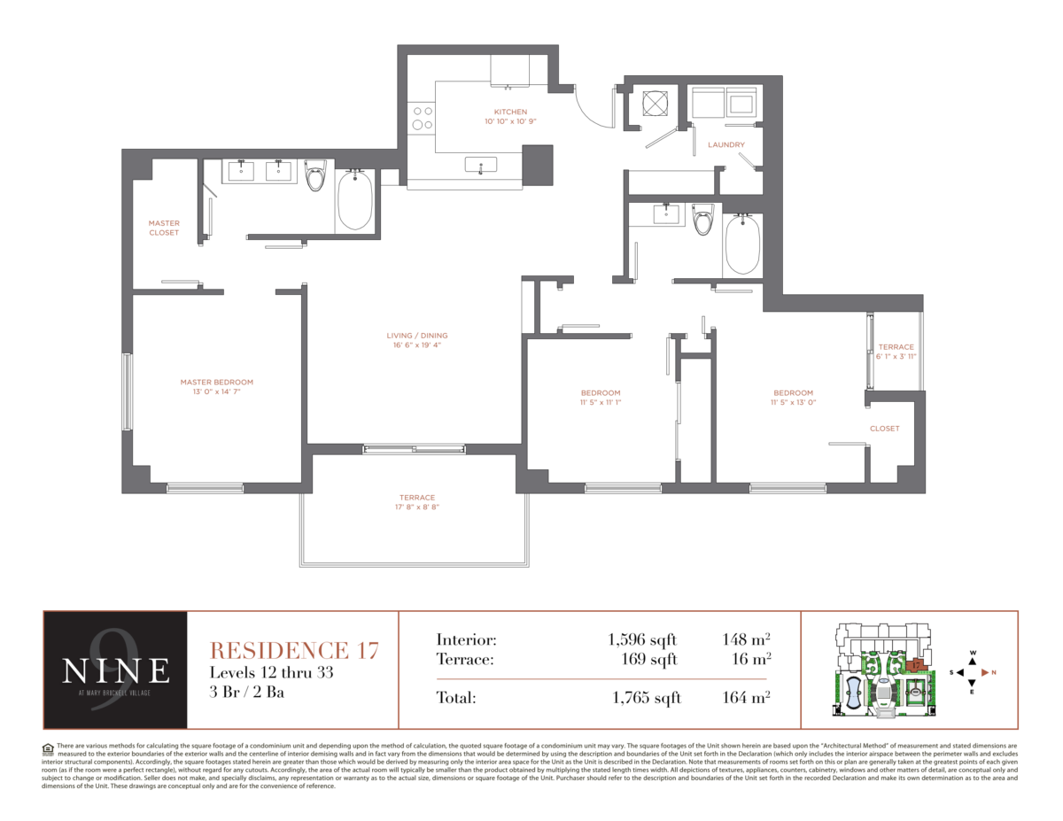 NINE At Mary Brickell Village - Floorplan 17