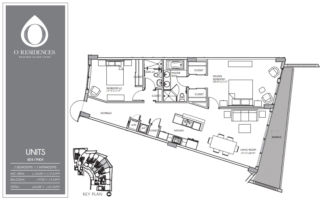 O Residences - Floorplan 1