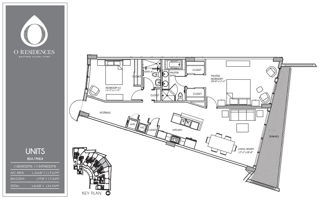 O Residences - Floorplan 1