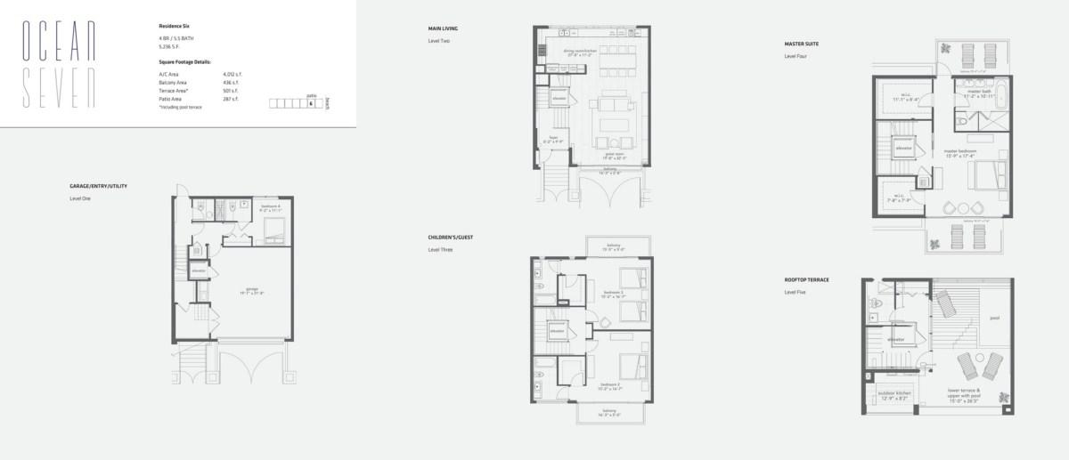 Ocean Seven - Floorplan 6